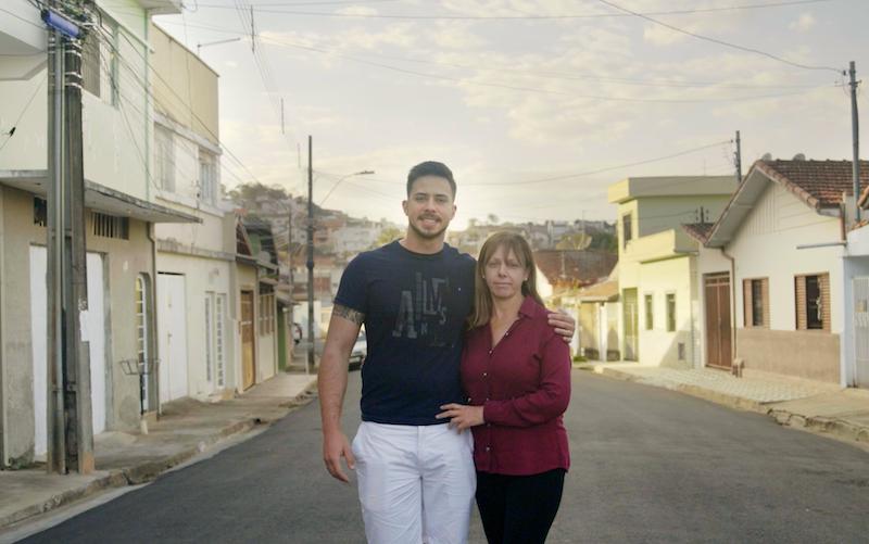 Matheus Oliveira and his mother