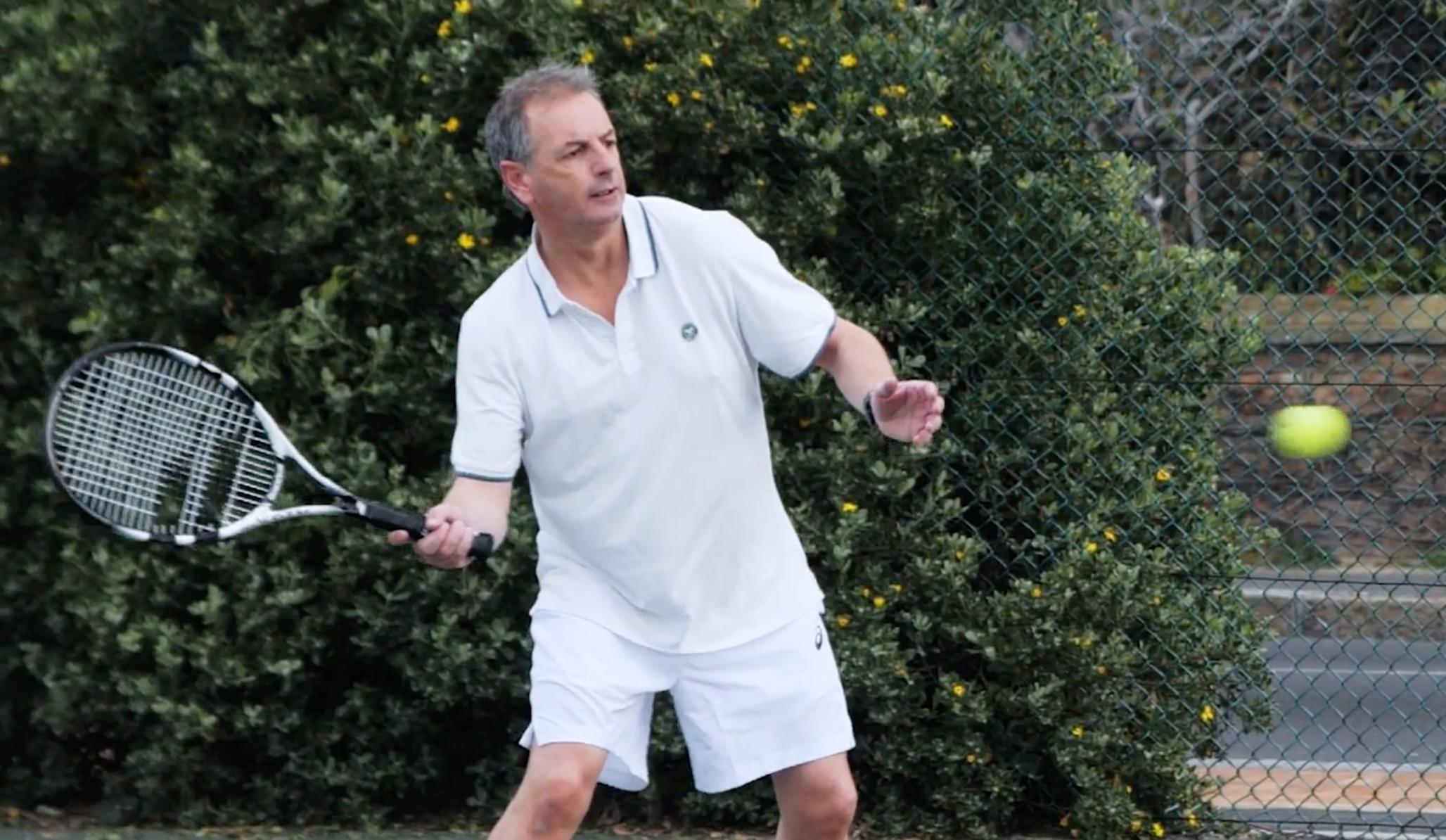 Jeremy Swartz playing tennis