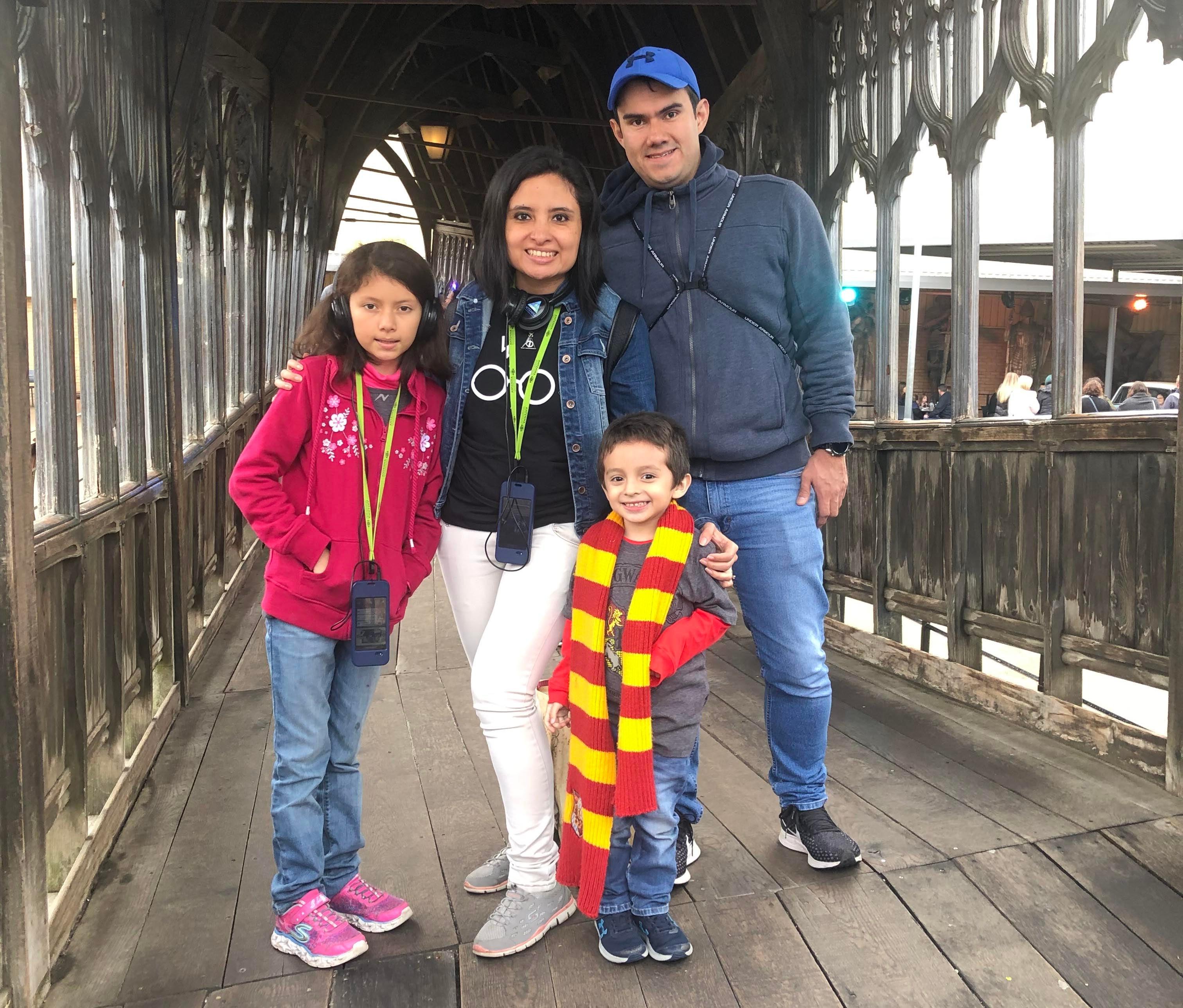 Ivina & Family on Bridge