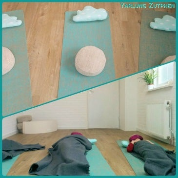 Eindontspanning tijdens Holistische Kinderyogales bij Yarlung Zutphen
