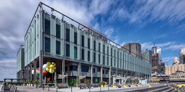 Exterior of Pier 17 at South Street Seaport, Lower Manhattan - New York City's first application of PPG DURANAR® in a marine environment.