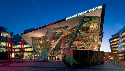 Bord Gáis Energy Theatre at twilight