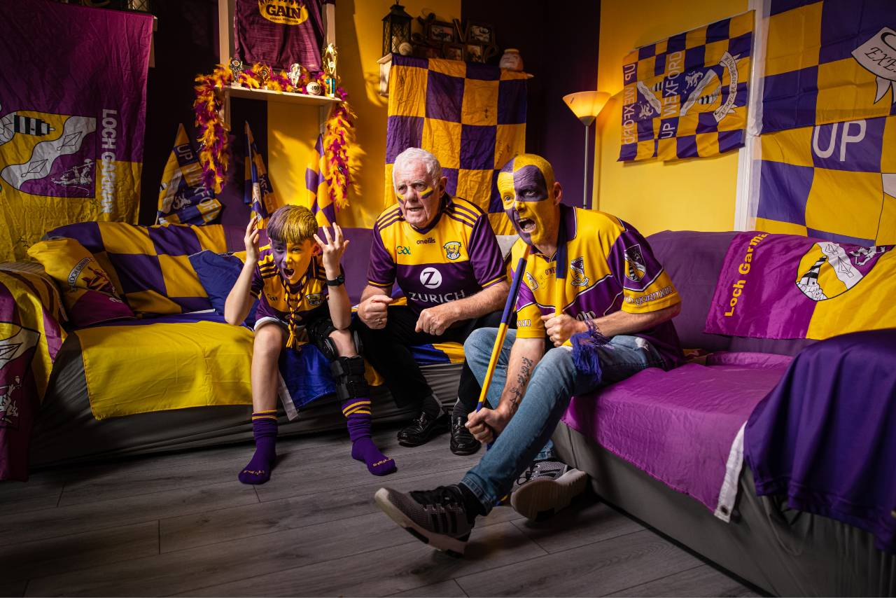 Wexford GAA Hurling family on couch