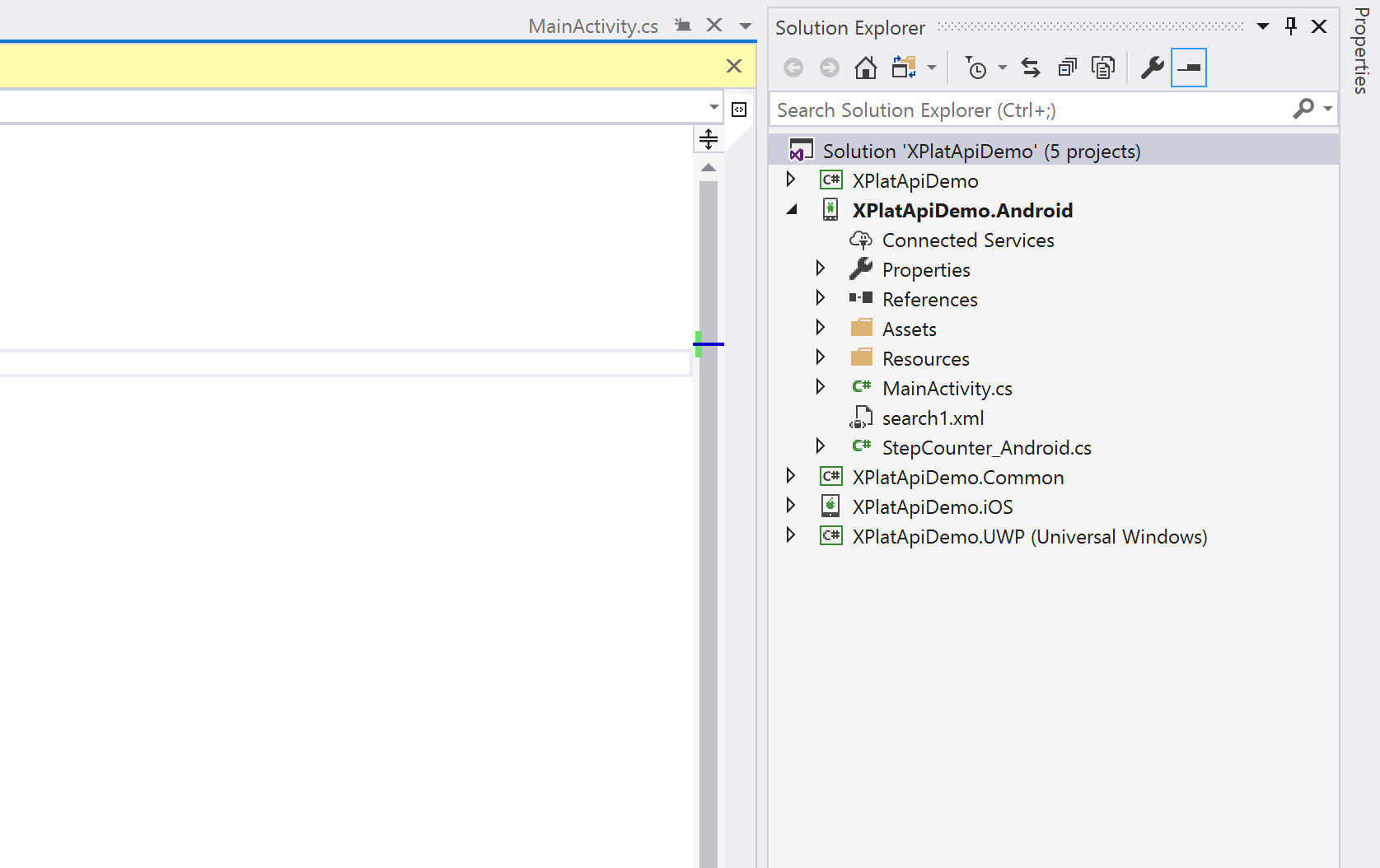 Visual Studio Android Project