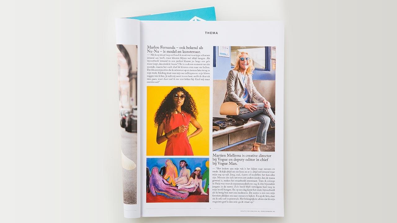 Bijenkorf retail magazine bij CMN marketing productie