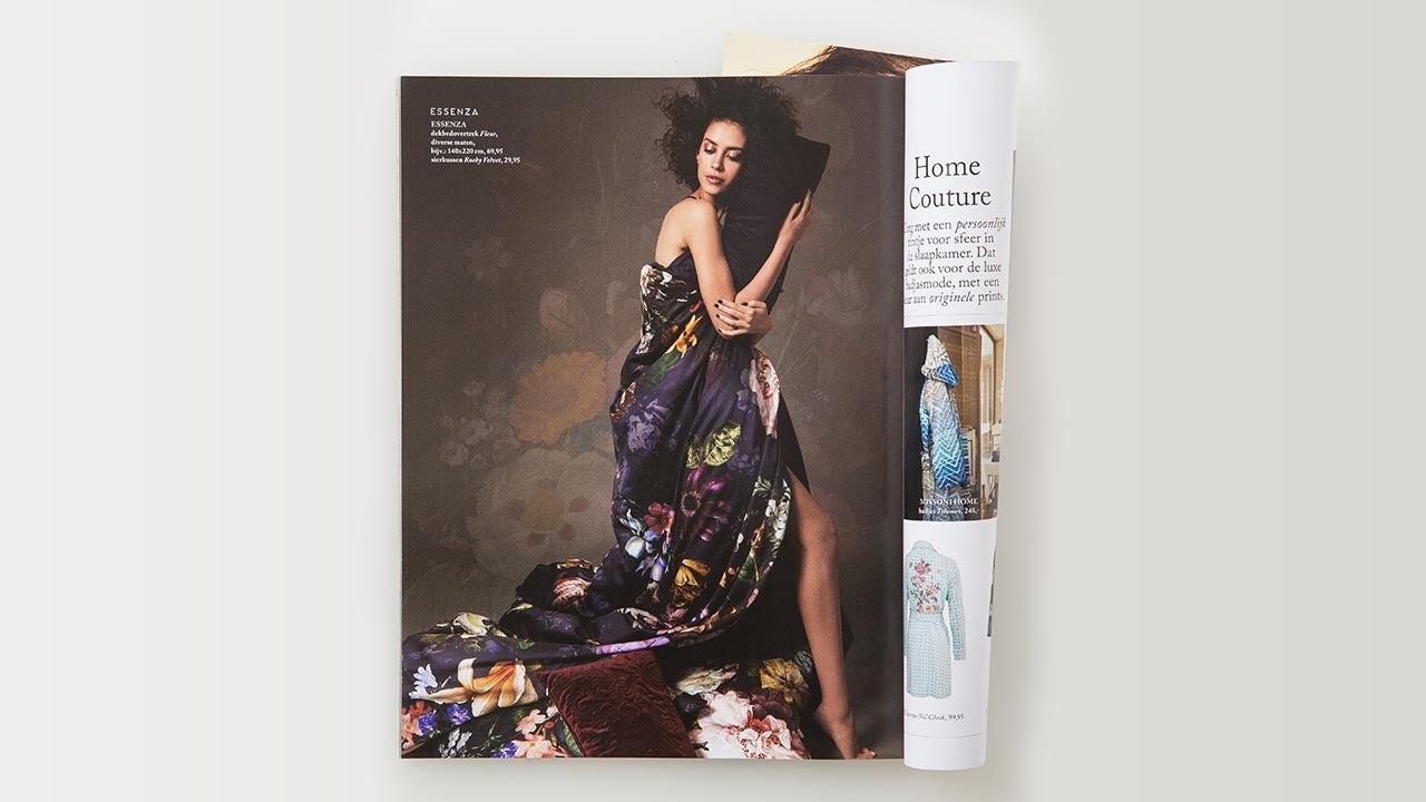 Fashion fotografie in het Bijenkorf magazine bij CMN Haarlem