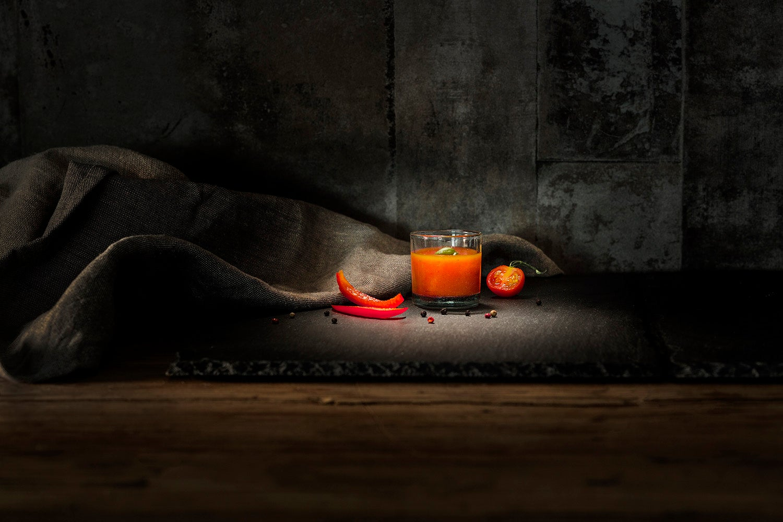 Hoogvliet gazpacho product en sfeer fotografie door CMN marketingproductie