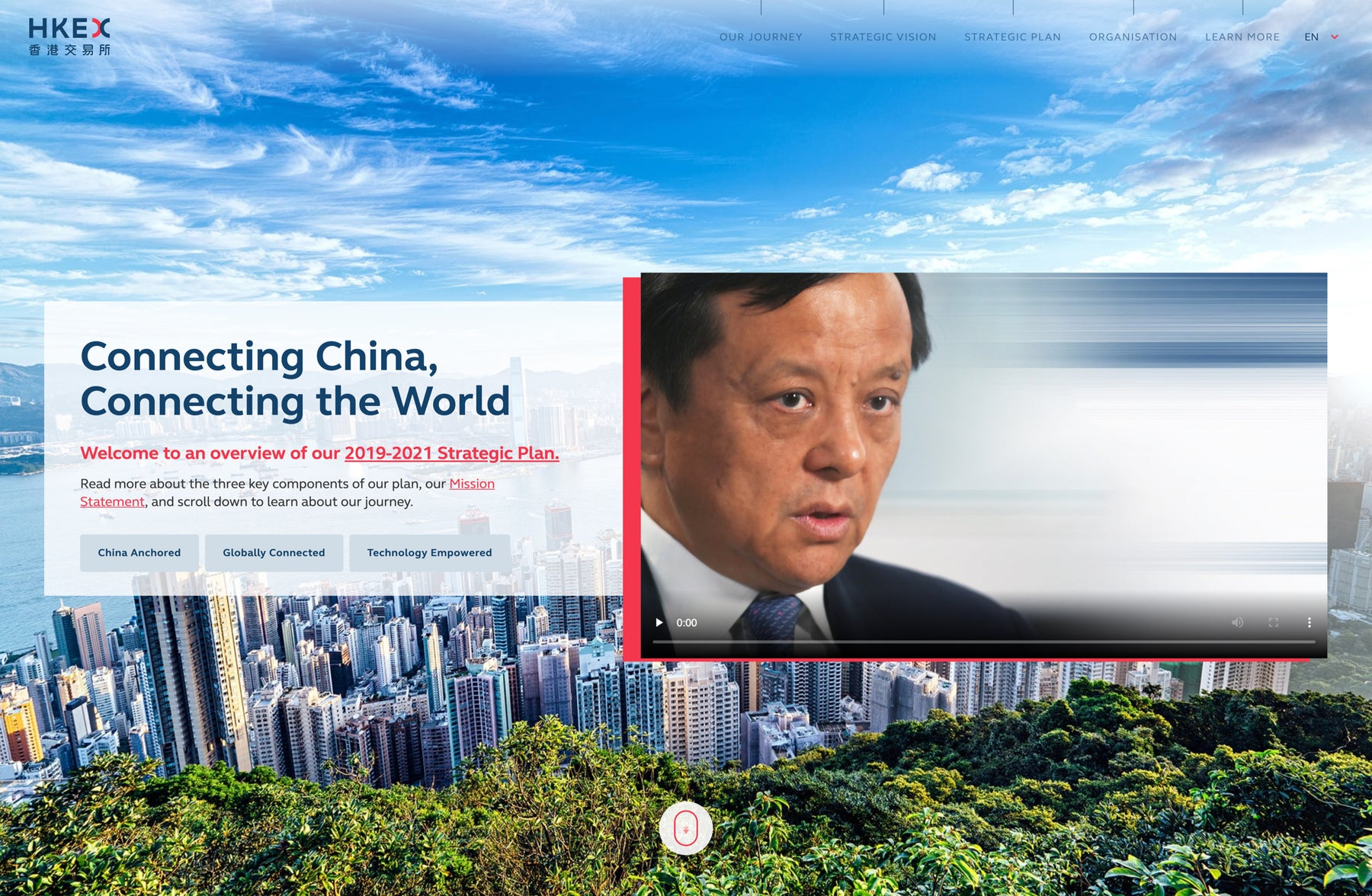 Introducing HKEX's Strategic Plan to showcase their ability to create investment opportunities in China for investors worldwide