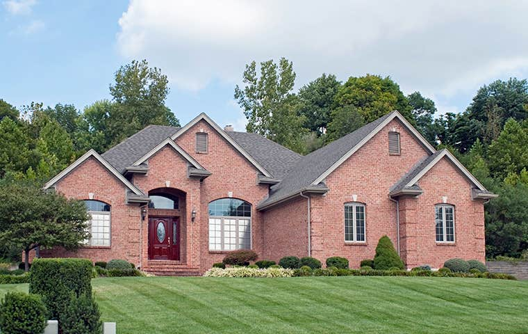 street view of a brick home in clarkson valley