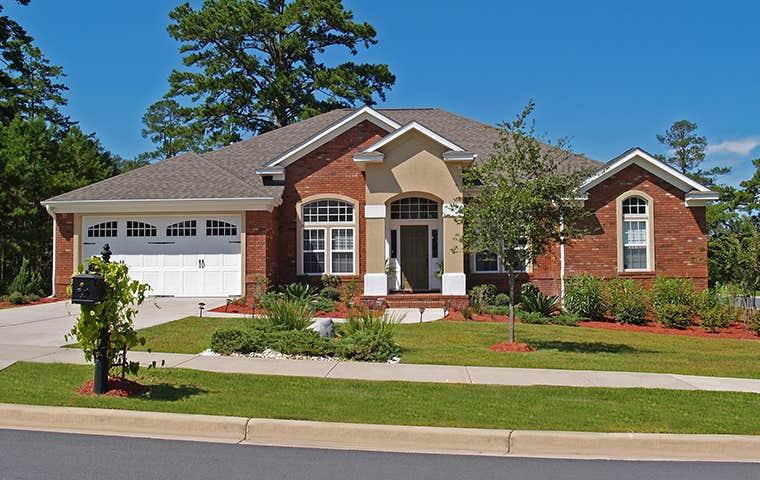 a beautiful brick home