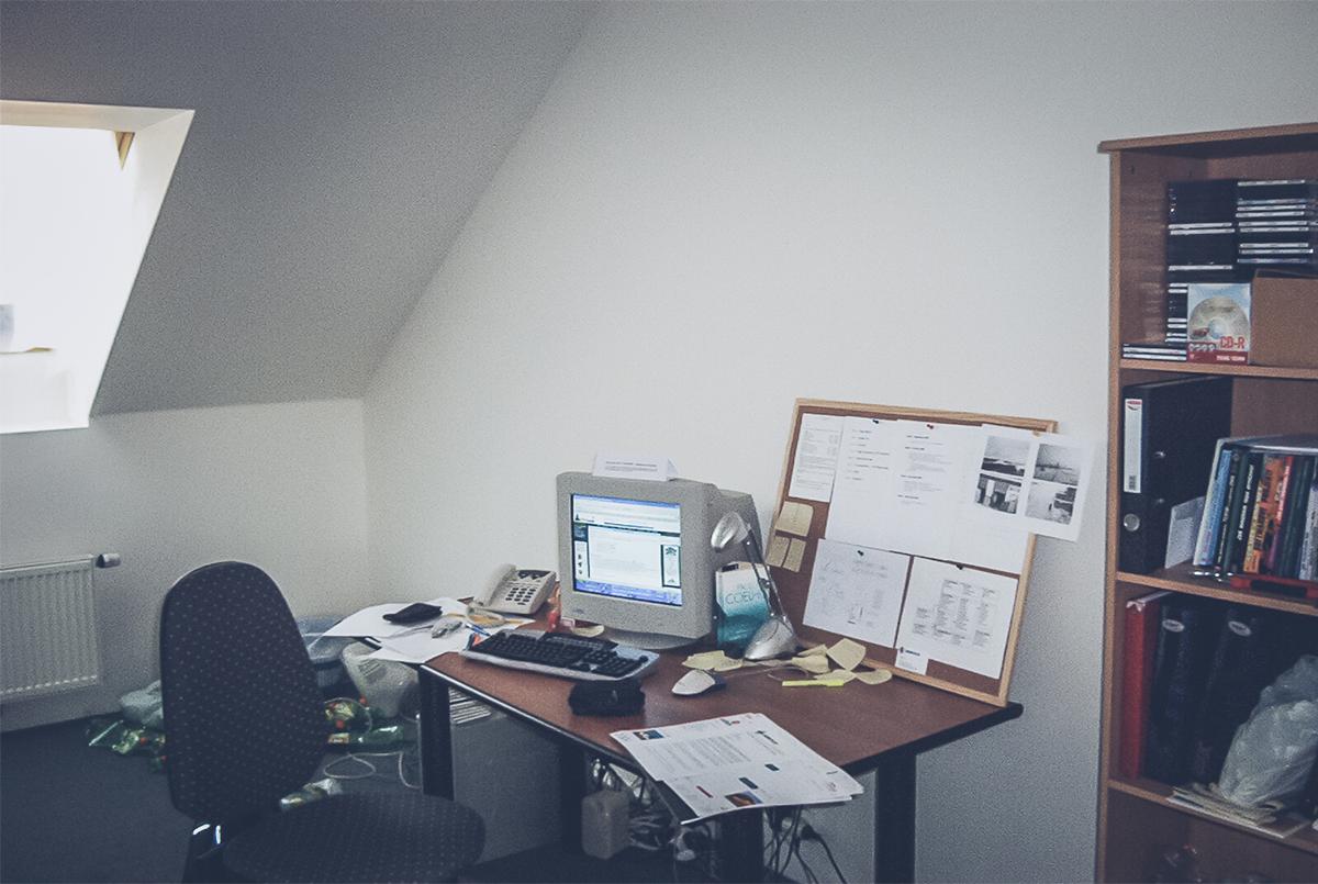 Petr Palas' desk in 2004