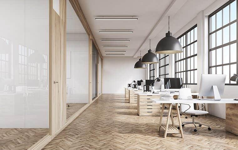 a clean modern office space