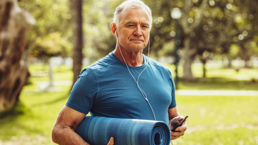 older male working out