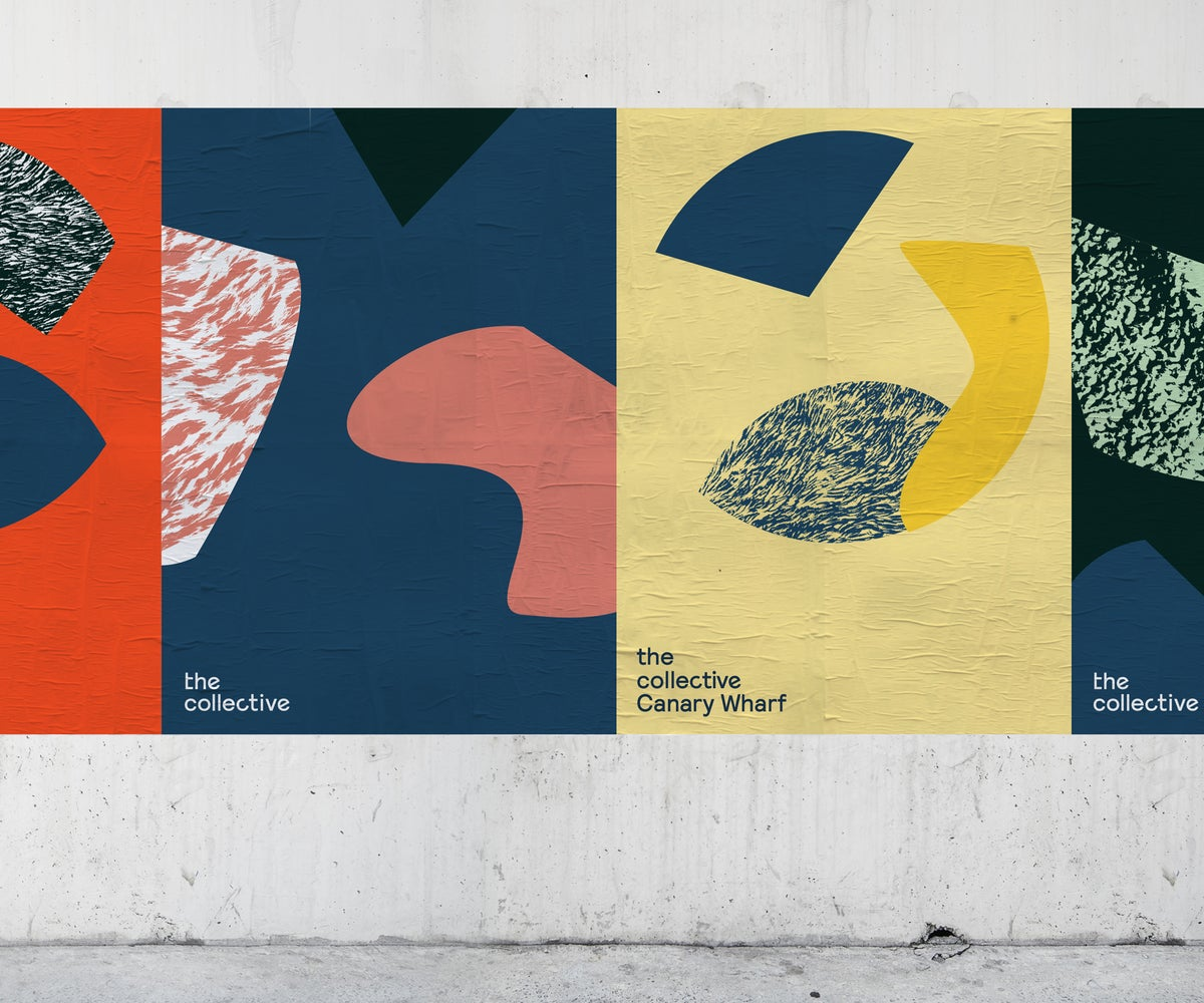 The new logo comes to life in these colourful posters.