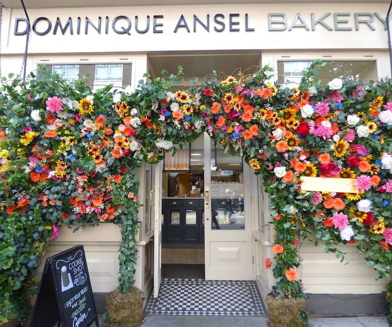 One of Dominique Ansel's beautiful London bakeries