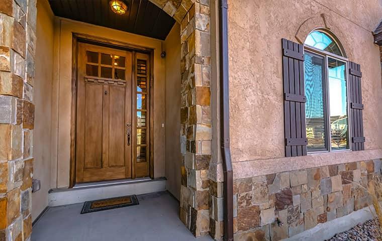 front door to a home in Duchesne Utah