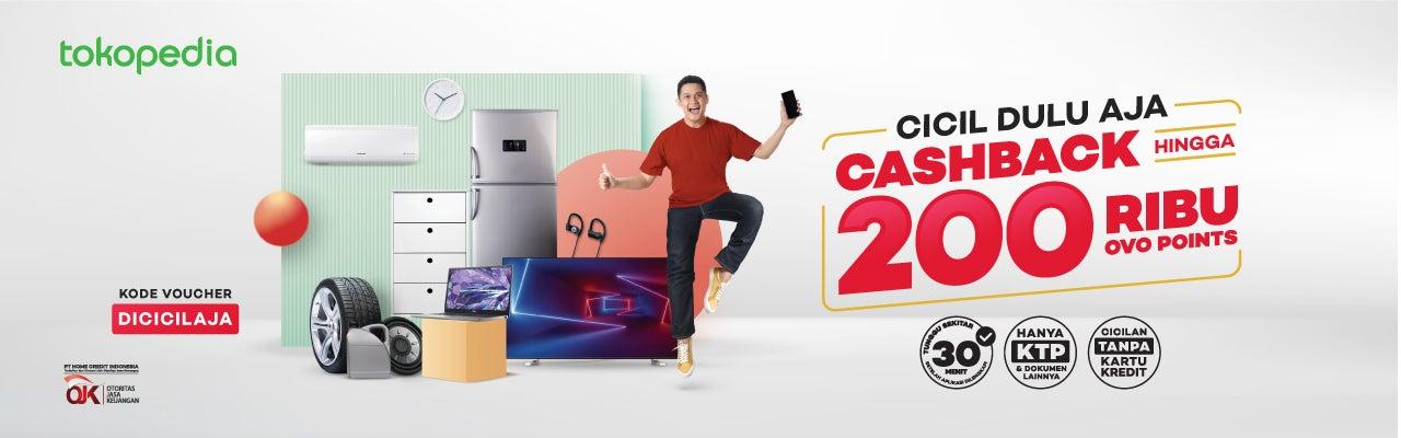 Cicilan Online: Cashback 2% hingga Rp200.000 di Tokopedia
