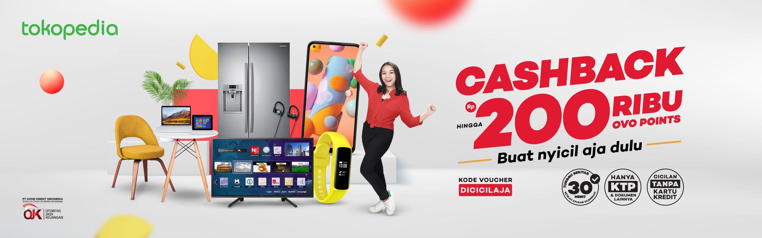 Cashback 2% hingga Rp200.000 di Tokopedia