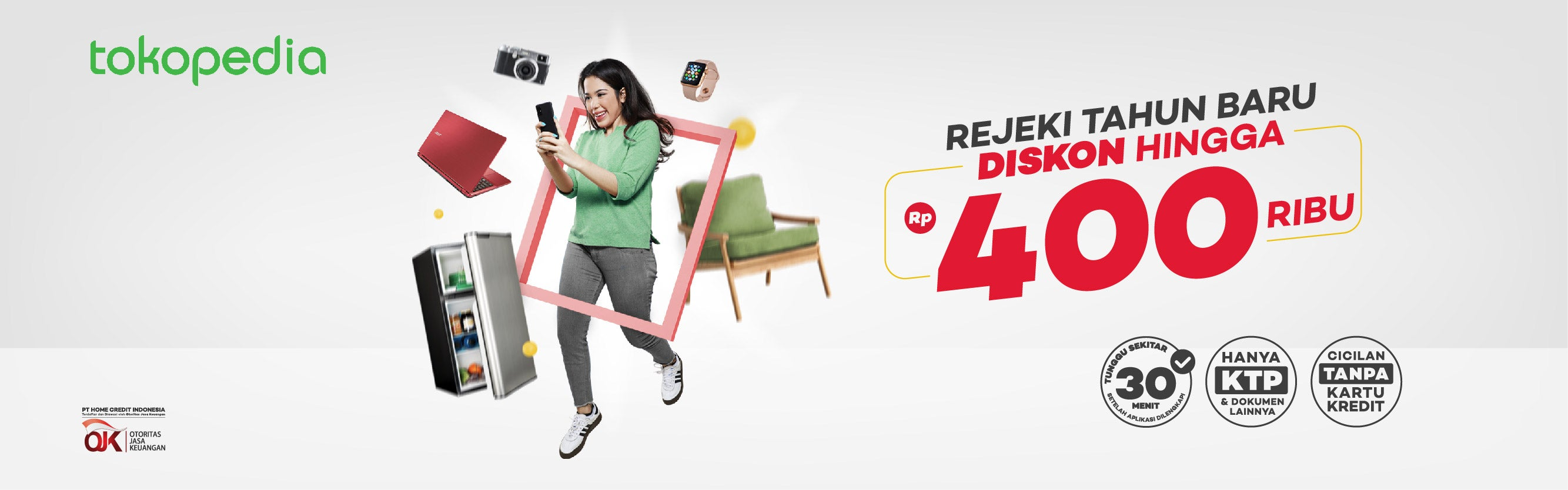 Cicilan Online: Diskon 4% hingga Rp400.000 di Tokopedia