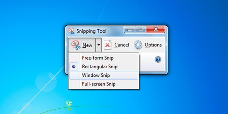 screenshot di laptop mudah dengan snipping tool