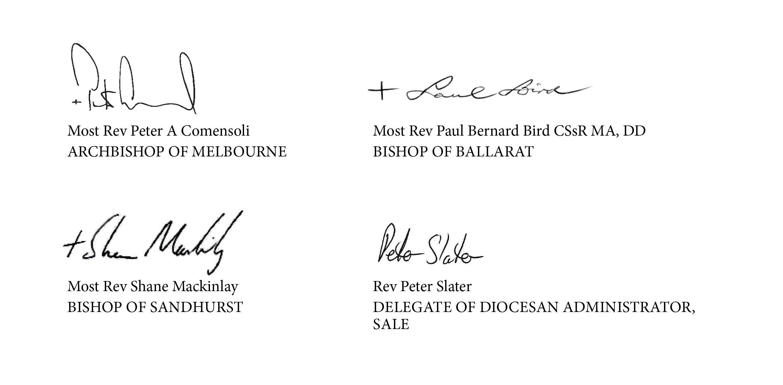 COVID-19 Pastoral Letter Signatures