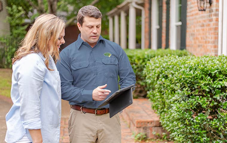 home inspection with a homeowner