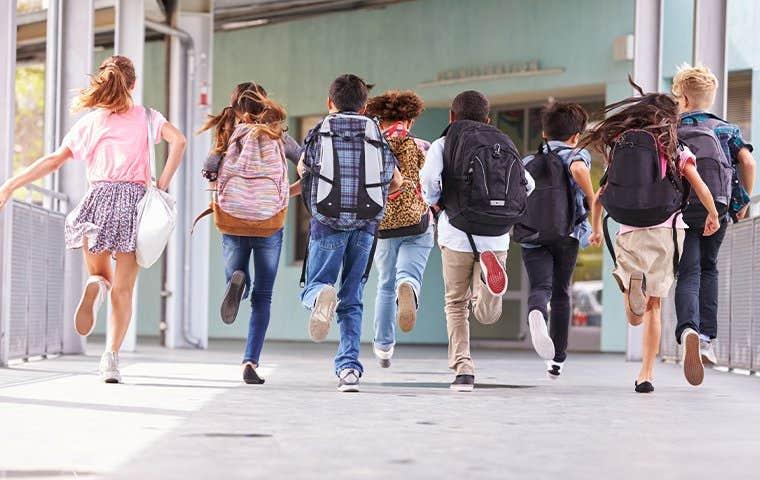 kids at a school