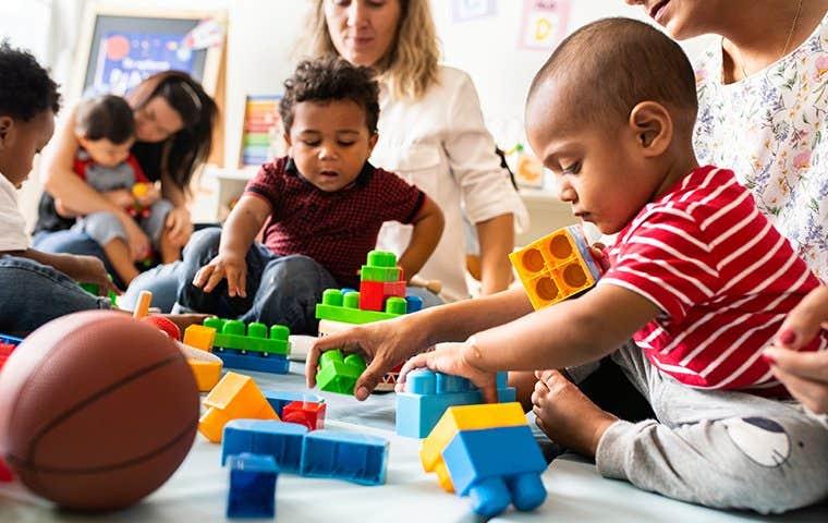 tiny humans at a daycare facility