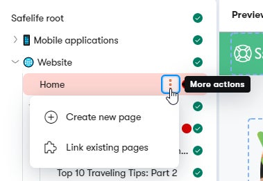 Creating subpages in Web Spotlight from the page tree.