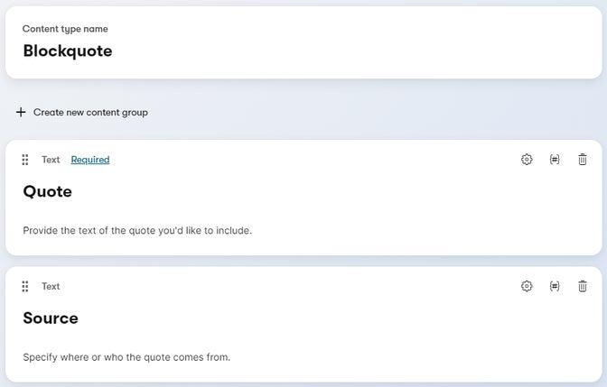 Example Blockquote content type