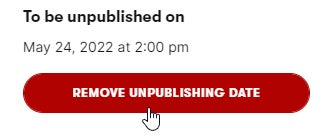 How to cancel planned content archivation
