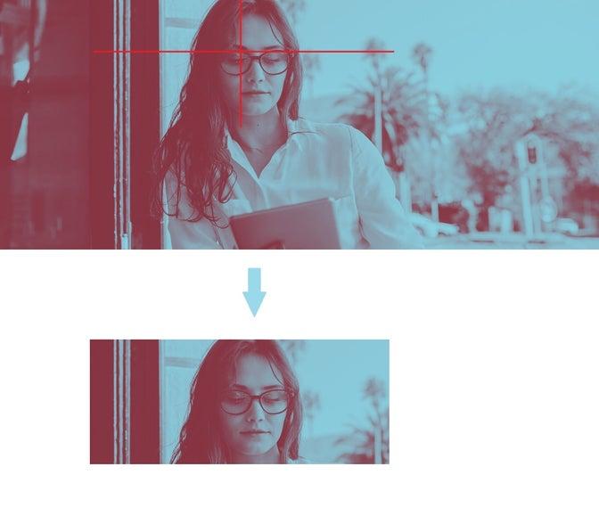 Art direction using the Image transformation API.