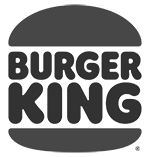 Black and white Burger King logo