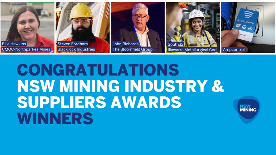 NSW Mining Industry and Suppliers Awards Winners