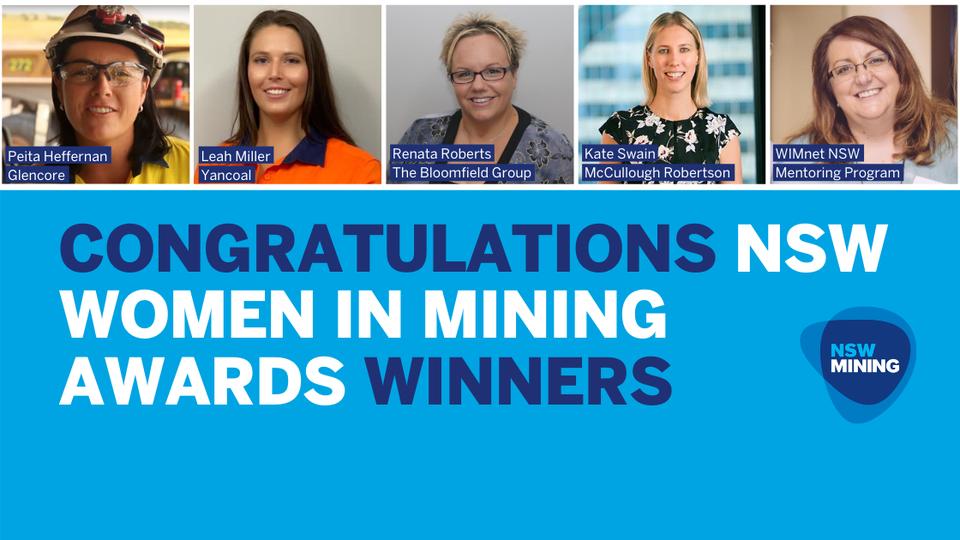 NSW Women in Mining Awards winners