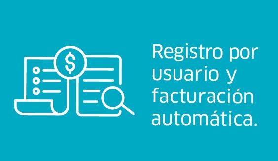 Registro por usuario y facturación automática