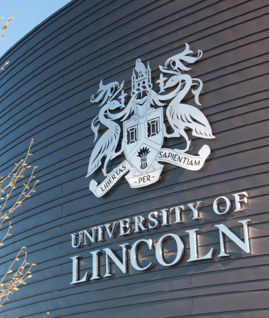 University of Lincoln Signage Carousel