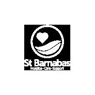 St Barnabas Logo Whiteout