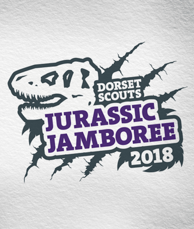 Dorset Scouts Jurassic Jamboree 2018 Logo