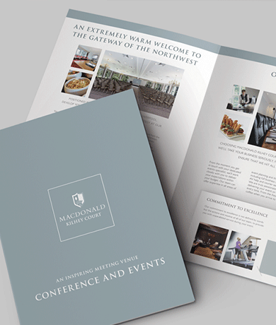 Macdonald Hotels Conference and Events Brochure artwork