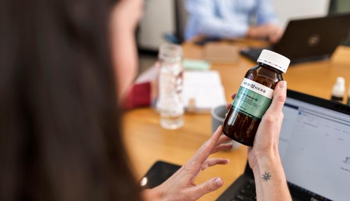 MediHerb product held by Integria employee