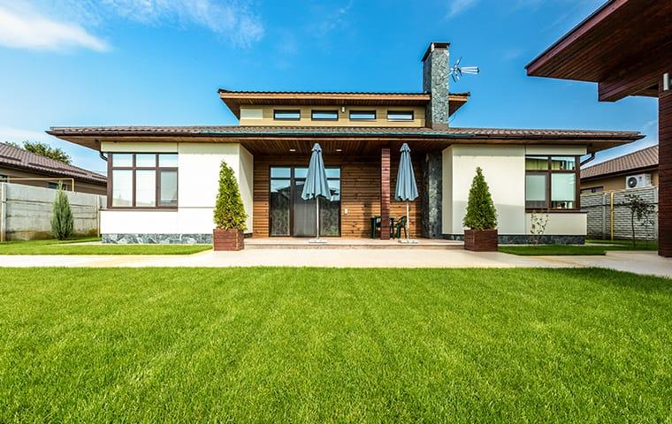 Green lawn outside Frisco, TX home