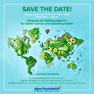 Save the date 15.10.2019 - AF Scientific Symposium @FENS - Shaping our dietary patterns for better human and planetary health