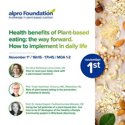 Die Alpro Foundation lädt ein zu einem Symposium am 1. November 2019 im Rahmen der EFAD in Berlin.