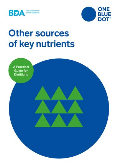 BDA OBD® Other plant sources of key nutrients