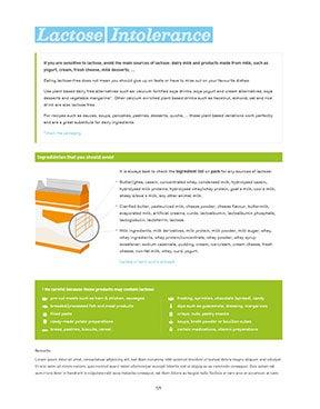 Factsheet Lactose