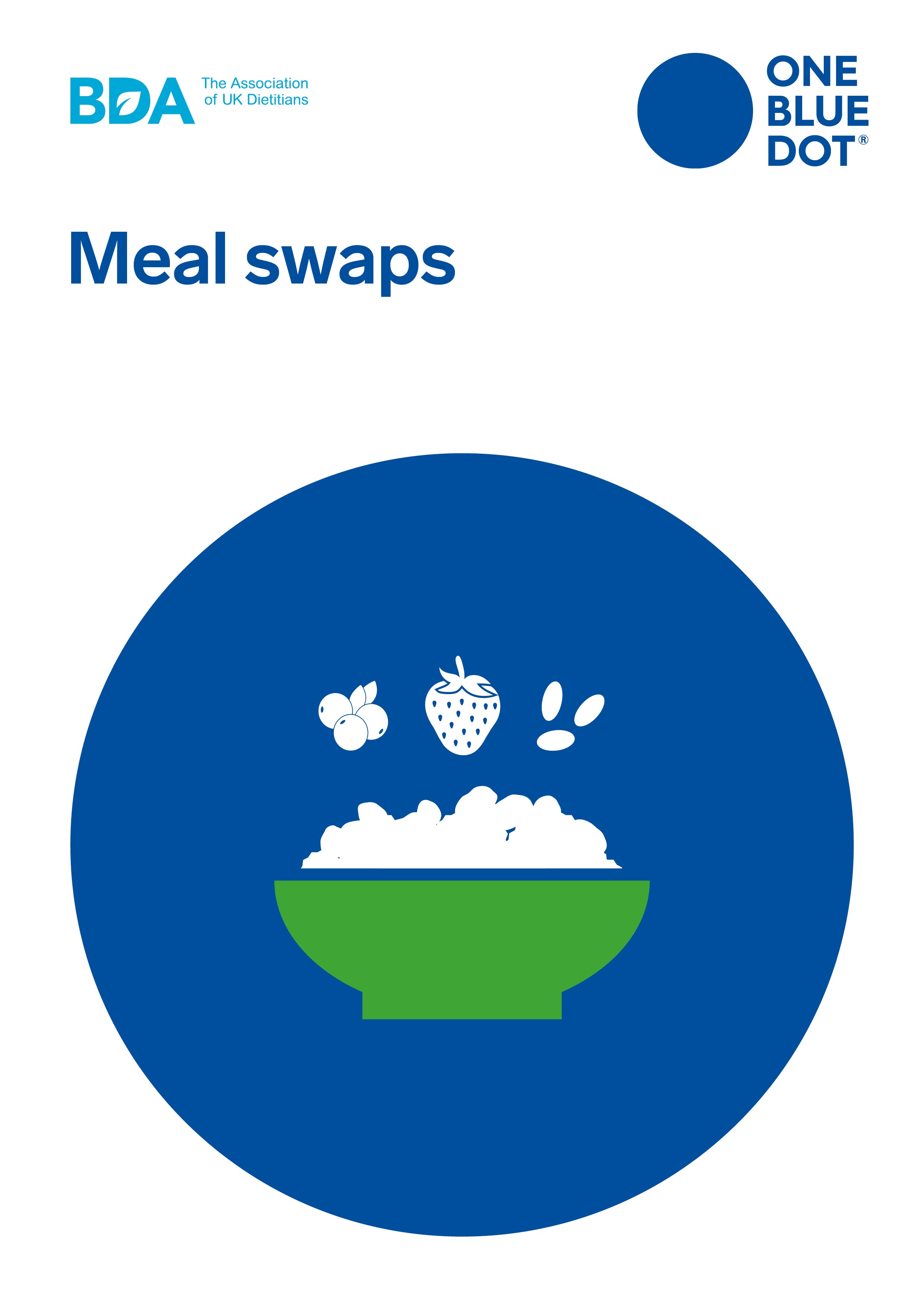 One Blue Dot: Meal Swaps