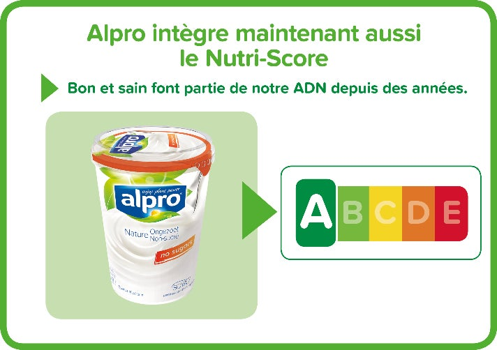 92% des produits Alpro ont un Nutri-Score A&B