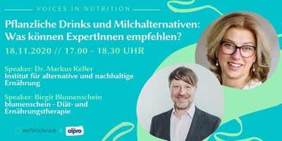Online Event: Pflanzliche Drinks und Milchalternativen: Was können ExpertInnen empfehlen?