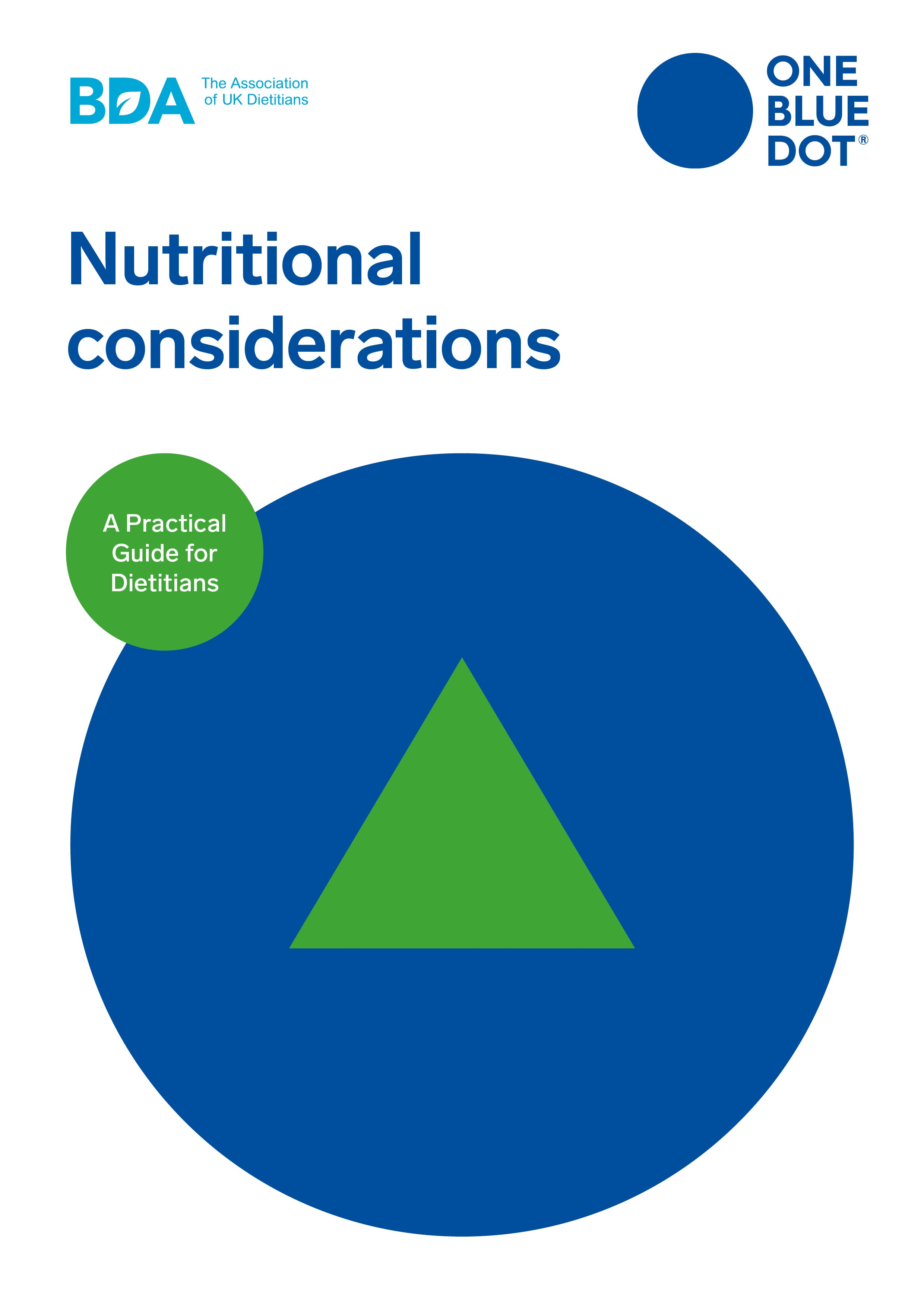 One Blue Dot: Nutritional Considerations